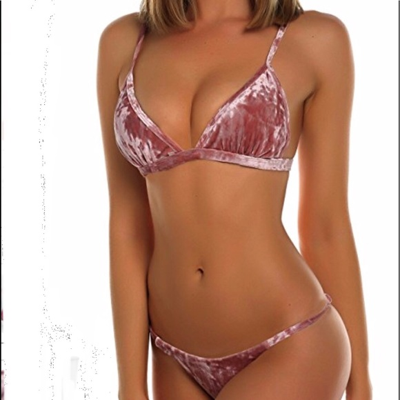 7b054dc94a3a9 Velvet Bikini-Set Crop Tank and Thong Bikini set NWT
